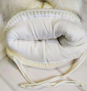 Шапка утепленная. Цвет белый