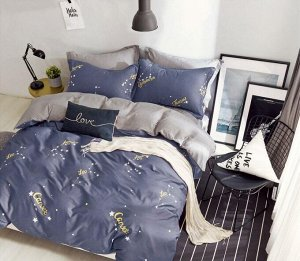Комплект постельного белья Евростандарт, поплин (Созвездия)