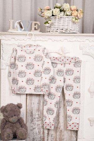 Пижама детская, модель 315, трикотаж (Ежи)