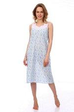 Сорочка ночная женская,модель 4031,ситец (Весна, голубой)