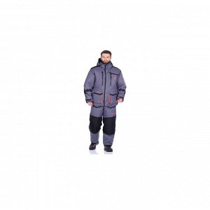 Костюм зимний Поплавок Siberia Floating цвет Серый/Черный ткань Breathable HUNTSMAN