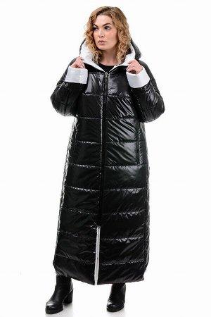 Пальто «Хельга», 50-56, арт.313 черный-белый