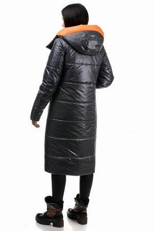 Пальто «Дженни», 42-50, арт.302 графит-оранж