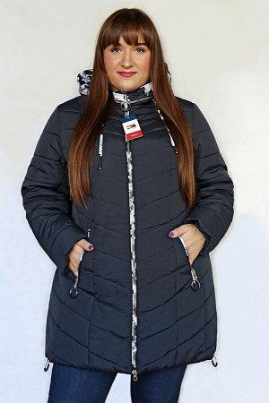 Куртка женская зимняя Марго (60-70) синяя