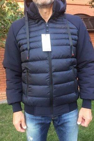 Куртка-пуховик мужская зимняя Алекс синяя (46-56)