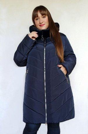 Куртка женская зимняя Мария (56-70) синяя