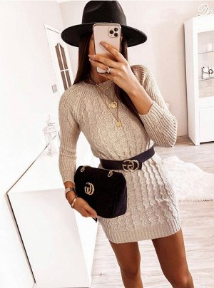 Платье ТКАНЬ: 50% ШЕРСТЬ, 50% АКРИЛ