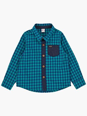 Сорочка (рубашка) (80-92см) UD 2081(3)мелк зел клетка