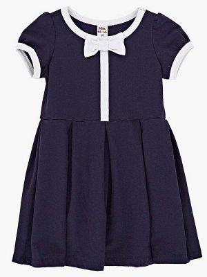 Платье с бантиком (92-116см) UD 1418(1)т.синий