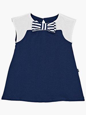 Платье с  бантиком (98-122см) UD 1497 синий