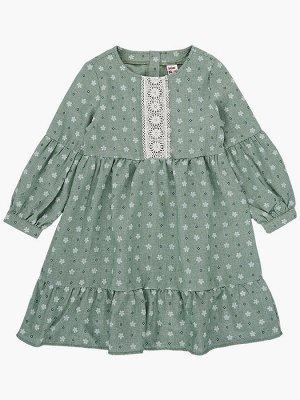 Платье (98-122см) UD 7287(2)хаки/цветы