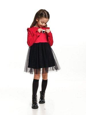 Платье (98-122см) UD 6989(3)крас/черный