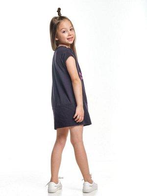 Платье с принтом (98-122см) UD 2835(1)графит