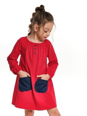 *Платье с карманами (98-122см) UD 3897(1)красный