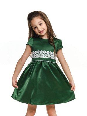 Платье (98-122см) UD 6213(1)т.зелен