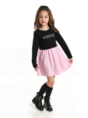 *Платье (98-122см) UD 6366(1)чер/розов