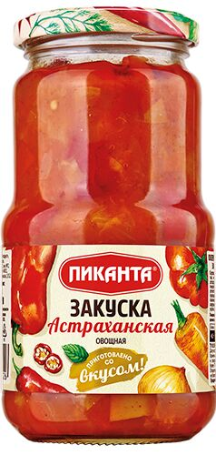 Закуска Пиканта 530г овощная Астраханская 1х6