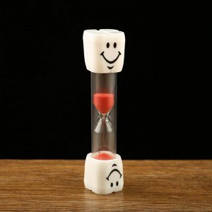 """Часы песочные """"Зубик"""" на 3 минуты, 2.5х10 см, микс"""