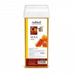 RuNail, Воск для депиляции Cardi (аромат: Цветочный мёд), 100 мл
