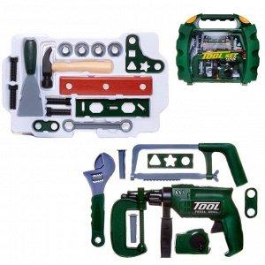 Игровой набор ABtoys Помогаю Папе Инструменты в чемодане 22 предмета788