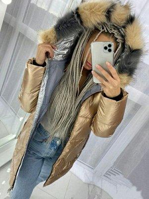 Куртка Мех искусственный, снимается Для температур до -20