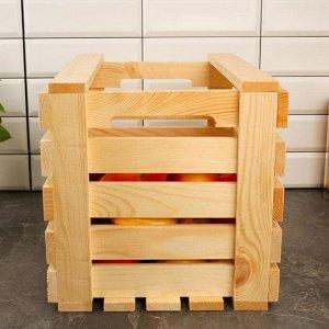 Ящик для овощей и фруктов, 40 ? 30 ? 30 см, деревянный