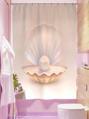 Фотоштора для ванной Королевская жемчужина