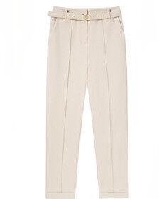 Плотные классические брюки айвори