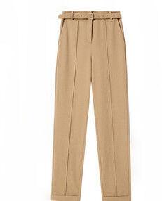 Плотные классические брюки горчица