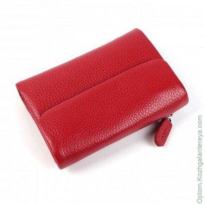 Маленький женский кожаный кошелек 3240 Ред красный