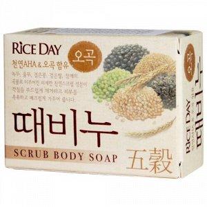 Мыло-скраб т. LION Korea RICE DAY 100гр 5 Злаков
