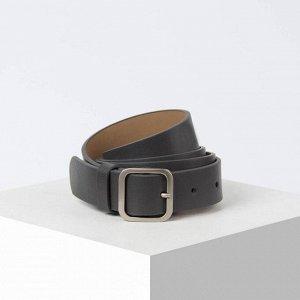 Ремень, ширина 3 см, винт, пряжка металл, цвет серый