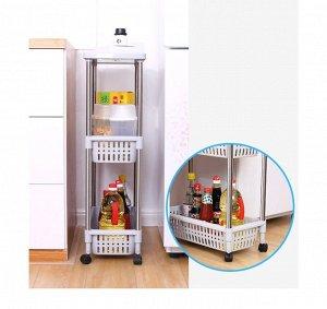 Мобильная этажерка SonTai Kitchen Rack / 3-х Ярусная