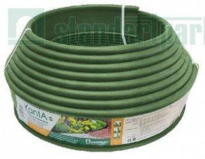 """Садовый бордюр""""Канта""""   оливковый, с трубкой сверху, длина 10 м"""