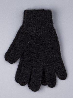 Перчатки вязаные мужские, иссиня-черный