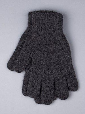 Перчатки вязаные мужские, темно-серый