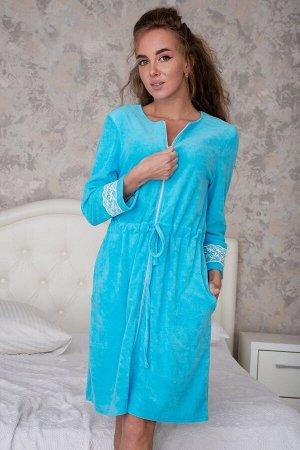 Халат 2616 Ткань:   Махра      Состав:   80% хлопок, 20% п/э      Размеры:   46, 48, 50, 52, 54, 56 Нежный и уютный халат - неотъемлемая часть гардероба практически любой женщины, которая стремится вы