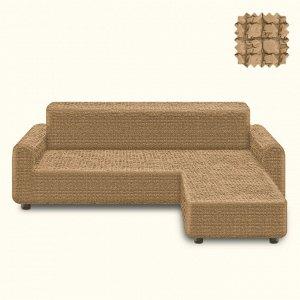 Чехол для дивана (правый угол) Dolley Цвет Песочный (Трехместный)