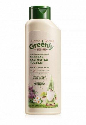 Биогель для мытья посуды концентрированный «Травяной микс» Home Gnome Greenly