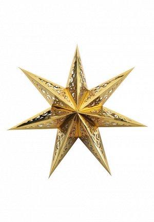 Декоративное украшение «Звезда», цвет золотистый