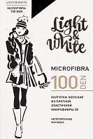 Light&White Microfibra 100 DEN черн. Колготки