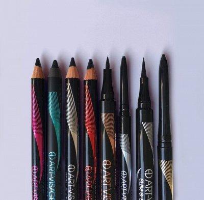 Мерцающий прозрачный блеск или красный глянец?❤️ — Коллекция черных карандашей в разных текстурах — Для глаз