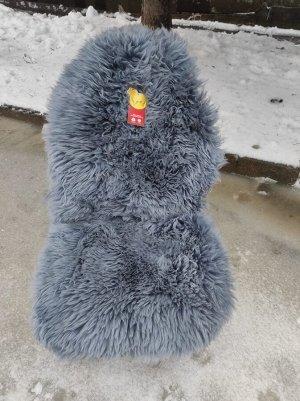 Накидка меховая овчина (натуральный мех, длинный ворс) без подклада  Серый