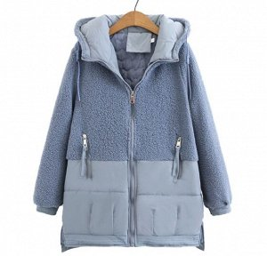 Куртка комбинированная,голубой
