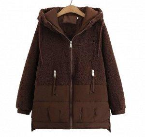 Куртка комбинированная,коричневый