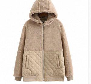 Куртка комбинированная,бежевый