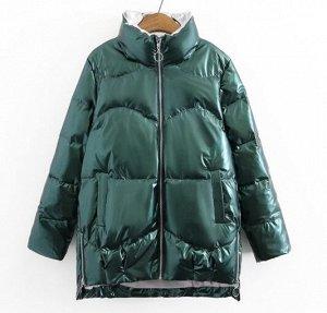 Пуховик зимний, зеленый