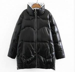 Пуховик зимний, черный