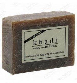 Khadi Herbal woody Sandal & Honey soap/, 100 гр.