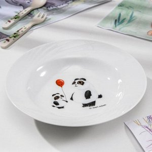 Тарелка глубокая «Панда», 230 мл, d=20 см